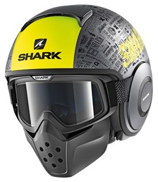SHARK Drak Tribute RM Mat Antraciet-Geel-Zwart AYK