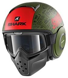 SHARK Drak Tribute RM Mat Groen-Rood-Zwart GRK