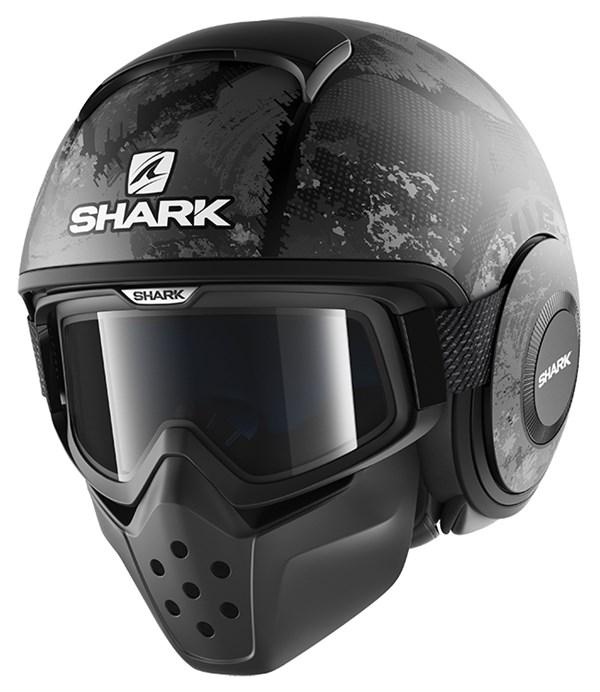SHARK Drak Evok Mat Zwart-Antraciet-Antraciet KAA