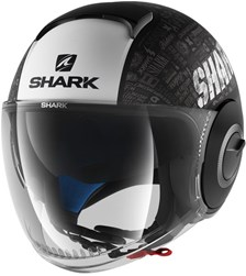 SHARK Nano Tribute RM Mat Zwart-Wit-Antraciet KWA