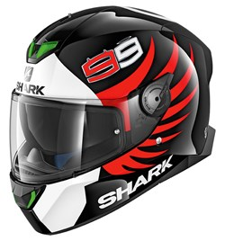SHARK : Skwal 2 Lorenzo - Noir-Blanc-Rouge KWR