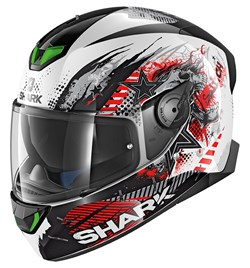 SHARK : Skwal 2 Switch Riders 1 - Wit-Zwart-Rood WKR