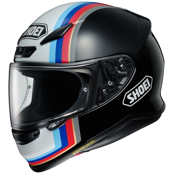 SHOEI NXR Recounter Zwart-Wit-Blauw TC-10