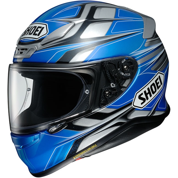 SHOEI NXR Rumpus Blauw-Zilver-Zwart TC-2
