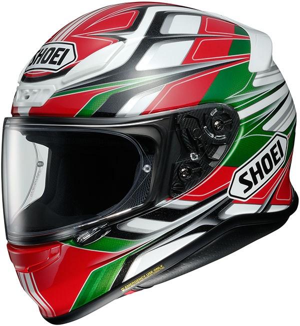 SHOEI NXR Rumpus Rouge-Blanc-Vert TC-4
