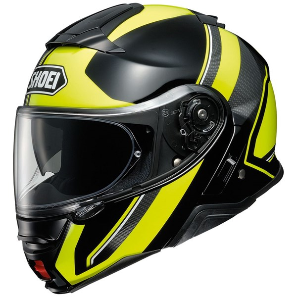 SHOEI Neotec II Excursion Noir-Jaune Fluo TC-3