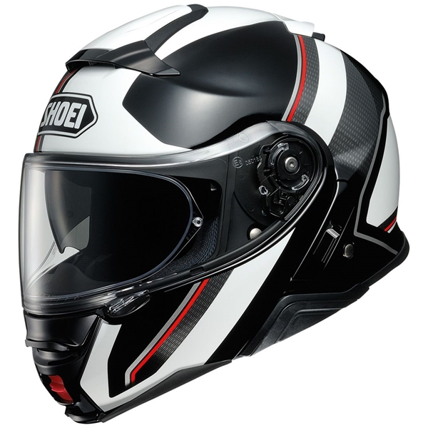 SHOEI Neotec II Excursion Noir-Blanc TC-6