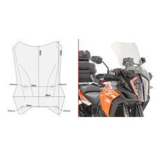 GIVI Verhoogd transparant windscherm - ST D7706ST