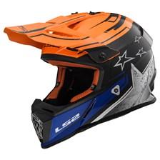 MX437 Fast Core Mat Zwart-Oranje-Blauw