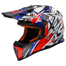 LS2 MX437 Strong Wit-Blauw-Rood