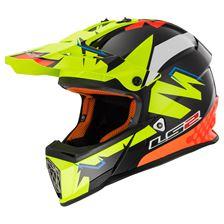 LS2 MX437 Volt Zwart-Geel-Oranje