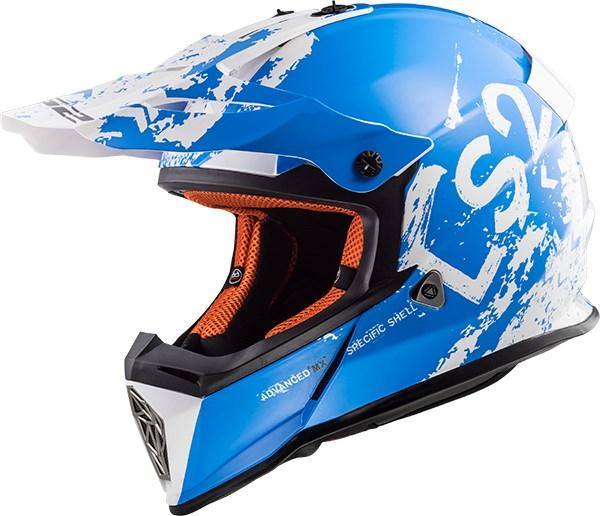 LS2 MX437 Spot Wit-Blauw