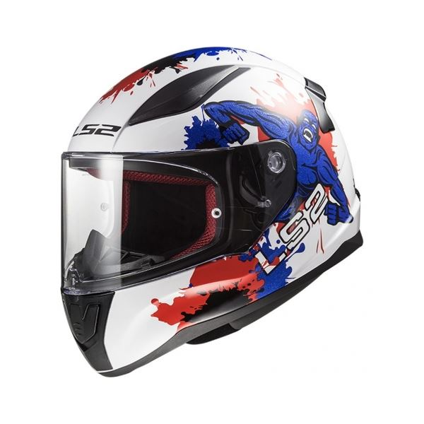 LS2 FF353 Rapid mini Monster Wit-Blauw