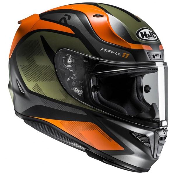 HJC RPHA-11 Deroka Mat Noir - Vert - Orange