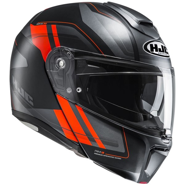 HJC RPHA-90 Tanisk Mat Noir - Orange - Gris