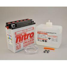 NITRO Batterie conventionnelle avec flacon d'acide 12N5.5-4A-WA