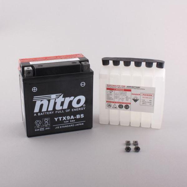 NITRO Batterie sans entretien YTX9A-BS