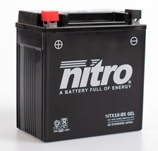 NITRO Gesloten batterij onderhoudsvrij YTX16-BS-GEL