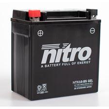 NITRO Batterie fermée sans entretien YTX16-BS-GEL