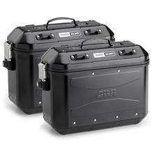 GIVI DLM36 Trekker Dolomiti valises noir aluminium