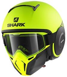 SHARK Street-Drak Street-Neon Mat Geel-Zwart-Zwart YKK