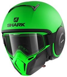 SHARK Street-Drak Street-Neon Mat Vert-Noir-Noir GKK