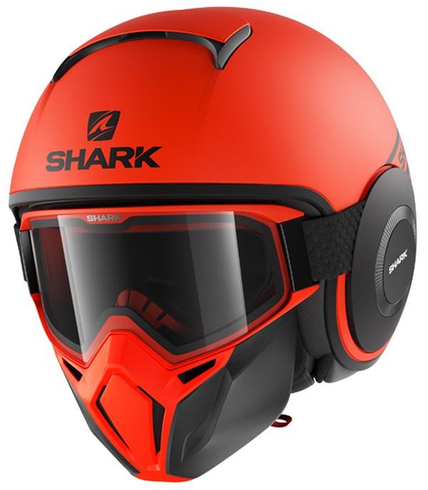 SHARK Street-Drak Street-Neon Mat Oranje-Zwart-Zwart OKK