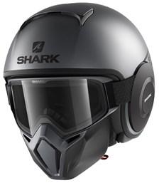 SHARK Street-Drak Street-Neon Mat Antraciet-Zwart-Zwart AKK