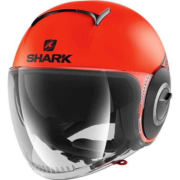 SHARK Nano Street-Neon Mat Oranje-Zwart-Zwart OKK