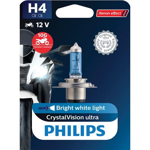 PHILIPS H4 CrystalVision ultra Moto