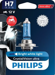 PHILIPS H7 CrystalVision ultra Moto