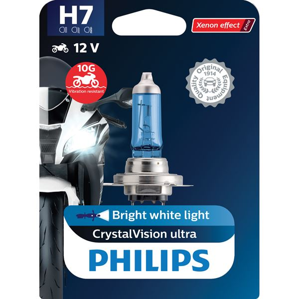 PHILIPS H7 CrystalVision ultra Moto