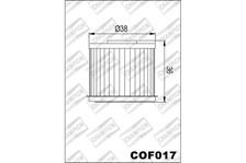 CHAMPION Filtre à huile interne COF017