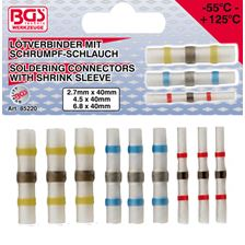 BGS TECHNIC Set soldeerconnectoren met krimpbuis 9 stuks