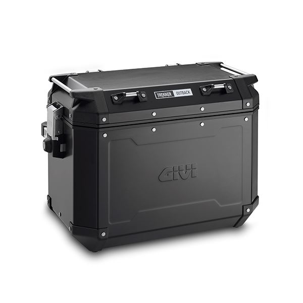 GIVI OBKN48 Trekker Outback valise Aluminium Noir (gauche)