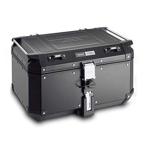 GIVI OBKN58 Trekker Outback top case Noir Aluminium