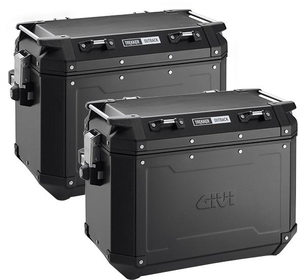 GIVI OBKN48 Trekker Outback set de valises Aluminium Noir