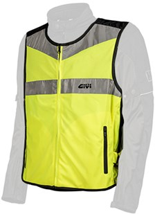 High visibility boven jas Fluo geel