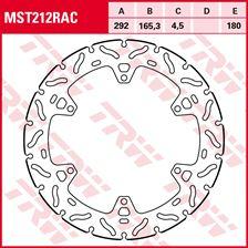 TRW MST vaste remschijf RAC design MST212RAC