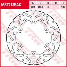 TRW MST disque fixe avec RAC design MST213RAC