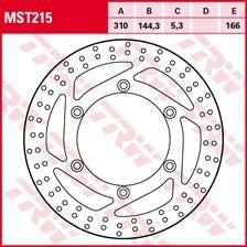 TRW MST disque de frein fixe MST215