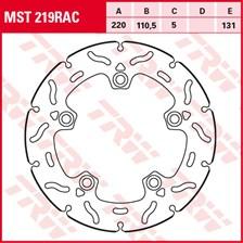 TRW MST disque fixe avec RAC design MST219RAC