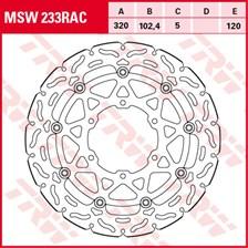TRW MSW disque de frein flottant RAC design MSW233RAC