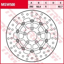 TRW MSW Zwevende remschijf MSW500