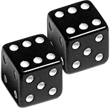 OXFORD Dice Noir