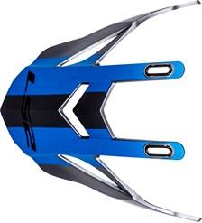 LS2 MX436 klep titanium-blauw quarterback