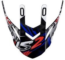 LS2 MX437 klep zwart-blauw-rood Strong