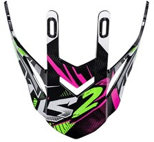 LS2 MX437 klep wit-groen-roze Strong