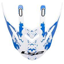 LS2 MX437 penne blanc-bleu Spot