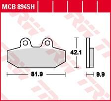 TRW Plaquettes de frein SV/SH MCB894SH